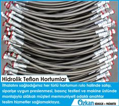 We provide turn-key services that focused on customer satisfaction with the sales of all kind of hose that we import; hose pressing, pressure tests and installation on the machine.  ÖZKAN HİDROLİK PNÖMATİK www.ozkanhidrolik.com.tr