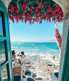 Greece Travel, Greek Islands, Pretty Pictures, Wonderful Places, Adventure Travel, Fair Grounds, Patio, Vacation, Explore