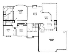 Craftsman exterior style with open floor plan - 1540 sq. ft.