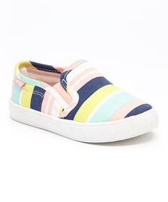 Look what I found on #zulily! Pink Stripe Tween Slip-On Shoe #zulilyfinds