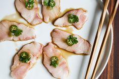Yellowtail Sashimi with Serrano & Ponzu