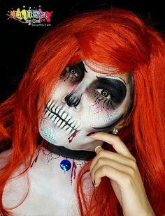 Halloween makeup, dead readhead, la fiesta by omi.     OMI TRAD
