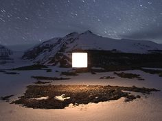Benoit  Paillé rigs glowing squares in unlikely places. The result is equal parts weird and awesome.