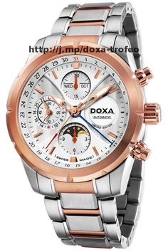 Doxa Trofeo Limited Steel Gold este un ceas la care multi viseaza Chronograph, Steel, Watches, Gold, Products, Wristwatches, Clocks, Steel Grades, Gadget