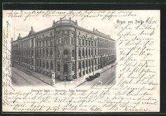 Alte Ansichtskarte: AK Berlin, Deutsche Bank, Mauerstraße Ecke Behrenstraße