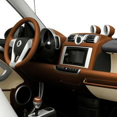 Interior Hermes Smart Car.