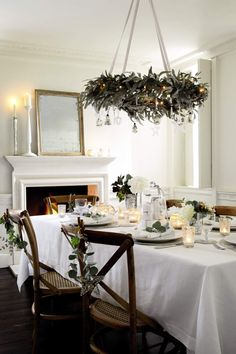 Christmas table setting