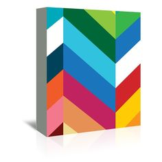 Chevron Graphic Art on wrapped canvas