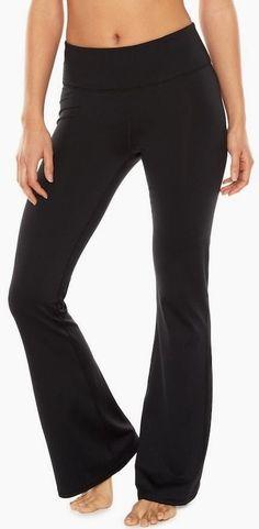 Gaiam Women's Zen Bootcut Om Yoga Pant Black (Tap Shoe) MSRP: $50
