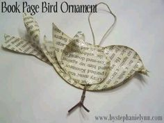 Bird out of paper ornament