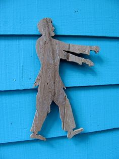 zombie made from old salvaged reclaimed wood