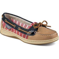 cc561766581c Women s Angelfish Breton Stripe Mesh Slip-On Boat Shoe in Linen