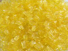 7x3.4mm Sol Gel Transparent Yellow Czech Glass by beadsandbabble, $2.99