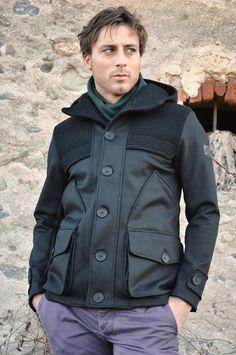 Lost In Albion Art MILTON Wool + Waxed Cotton Coat #menswear #fashion #madeinitaly