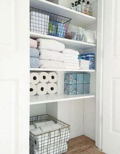 The beauty of linen closet organization makeover 32