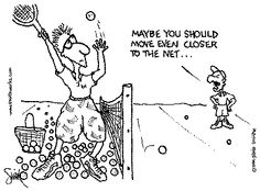 Tennis Jokes and Cartoons
