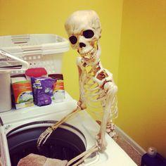 Laundry day Bones, Laundry, Home Appliances, Fun, Laundry Room, House Appliances, Appliances, Laundry Rooms, Dice