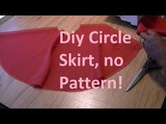 DIY Circle Skirt (no-zip method) - YouTube
