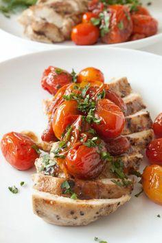 Chicken with Garlic Balsamic Tomatoes