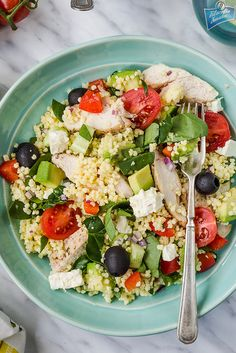 Chicken avocado and millet salad (in Polish) Gluten Free Recipes, Healthy Recipes, Food Porn, Diet And Nutrition, Cobb Salad, Poultry, Good Food, Food And Drink, Lunch