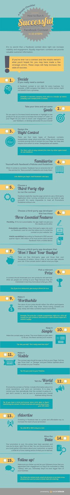 How To Run A Facebook Contest - INFOGRAPHIC