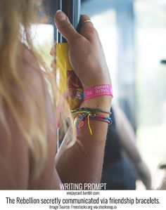 Prompt: The Rebellion secretly communicated via friendship bracelets. Image Source: Freestocks.org via stocksnap.io