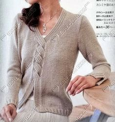 [Ribbed cable] -- free JAPANESE patt with diagrams