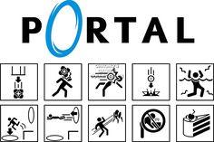 "CGC enorme - Póster de portal 2 ciencia Símbolo PS3 XBOX 360 pc - por009, papel, 24"" x 36"" (61cm x 91.5cm): Amazon.es: Hogar"