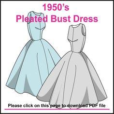 FREE 50's style dress pattern  | followpics.co
