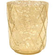 Vintage Mercury Glass Candle Holder (4.75-Inch, Marla Design, Quilt... (46 PLN) ❤ liked on Polyvore featuring home, home decor, candles & candleholders, gold candlestick holders, gold tealight candles, metallic gold votive candles, gold candles and metallic gold candles