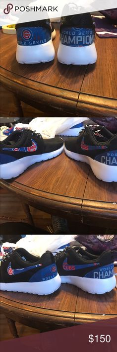 World Series Chicago Cubs Nikes Men's black Nikes Chicago Cubs World Series shoes brand new! Nike Shoes Sneakers