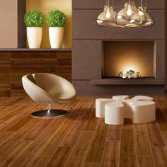 Wood Plank Porcelain Tile provides the same warm look at natural wood flooring | @Djoeke Floor & Decor #housetrends