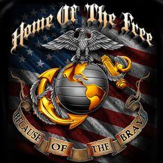 Home of the Free Marines Marine Corps Symbol, Us Marine Corps, Usmc Quotes, Military Quotes, Military Life, Military Ranks, Military Humor, Usmc Wallpaper, Bulldog Wallpaper
