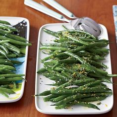 Green Beans Two Ways | Instead of just steaming or boiling green beans, Katie Workman first sautés them in butter and garlic, then simmers them in chicken broth. For adults, she adds fresh herbs and citrus—both zest and juice—giving the beans a fresh, vibrant flavor.