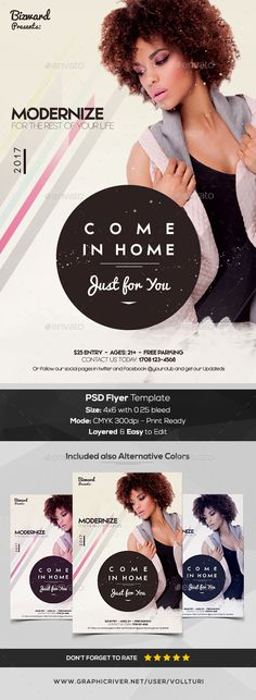 Come in Home - PSD Flyer Template - #Flyers Print #Templates Download here:   https://graphicriver.net/item/come-in-home-psd-flyer-template/20166760?ref=alena994