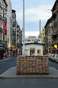 Checkpoint Charlie (& Museum on the left) Berlin, Germany. Checkpoint Charlie, Berlin City, Berlin Wall, Berlin Travel, Germany Travel, Travel Europe, Baltic Sea Cruise, Places Ive Been, Places To Go