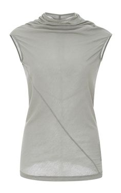 This **Rick Owens DRKSHDW** tee is crafted in ultra lightweight cotton jersey and features asymmetric seam detailing.