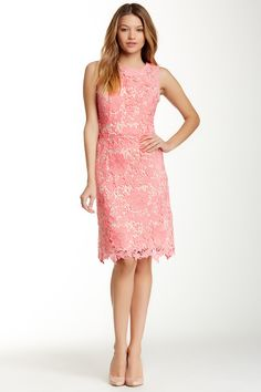 Sleeveless Lace Sheath Dress by ECI on @nordstrom_rack