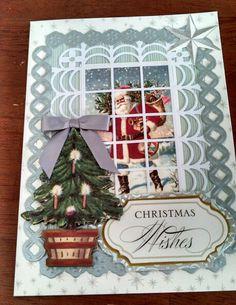 Christmas 2013 using Anna Griffin and David Tuturo embellishments