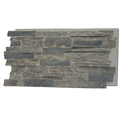 Superior Building Supplies, Cliff Gray in. Faux Mountain Ledge Stone Panel, at The Home Depot - Mobile Stone Siding Panels, Faux Stone Siding, Rock Siding, Stacked Stone Panels, Faux Panels, Rock Fireplaces, Fireplace Wall, Fireplace Remodel, Stone Veneer