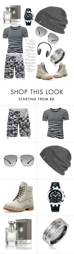 """#Camouflagestud"" by joicesanthos ❤ liked on Polyvore featuring Gucci, Outdoor Research, Common Projects, Versace, Bulgari, Bling Jewelry, Master & Dynamic, men's fashion and menswear"