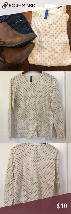 Polka dot cardigan Re-Posh, love the look but just doesn't fit me. More of a M/L. Just looking to recoup some of the cost! Sweaters Cardigans