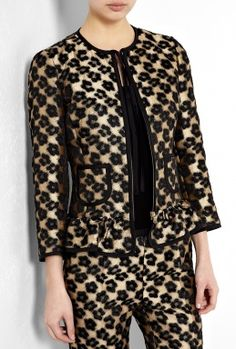 Red Valentino Leopard Taffeta Jacket by Red Valentino