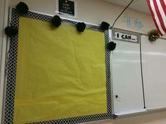 Black and yellow class decor #icanstatements #learningobjectiveboard #science #middleschooldecor #chicteacher