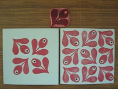 printmaking ideas | Printmaking ideas / NoeKs: Bloem. Love this print!