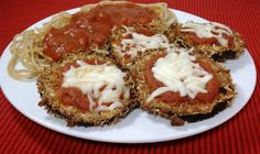 Eggplant Parmesan Recipe with eggplant, egg whites, grated parmesan cheese…