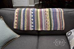 Boho Striped Baby Blanket - Colorful Christine
