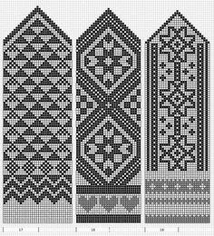 old Estonian mitten patterns Knitting Charts, Knitting Stitches, Knitting Designs, Knitting Projects, Knitting Patterns, Loom Patterns, Craft Patterns, Cross Stitch Patterns, Knitted Mittens Pattern