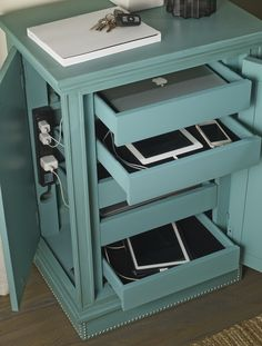 ....and here it is!  Check out what is hidden in this #turquoise chest from #Hooker_Furniture's October 2013 intros