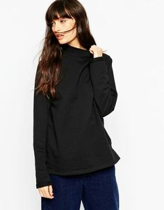 Sweatshirt with High Neck
